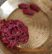 Beetroot Cutlets - veg patties made with beetroots, potatoes, carrot and peas. #vegetarian #snack #teatimesnack #breakfast #indian