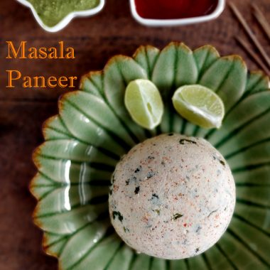 Homemade Masala Paneer | healthy Appetizer