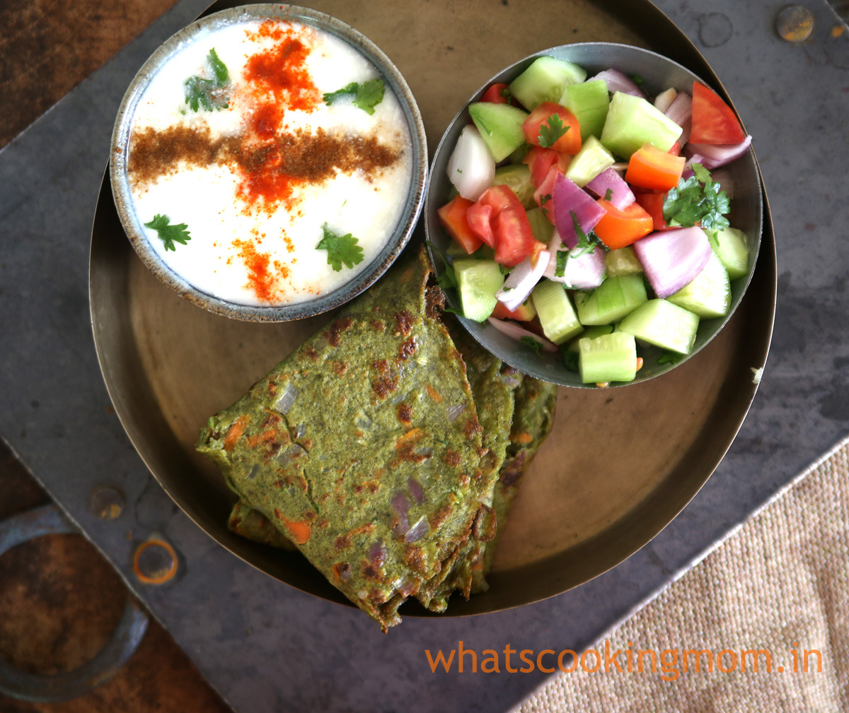 Split Green Moong Dal Cheela #healthy #yummy #vegetarian #snack #breakfast served with curd and green salad
