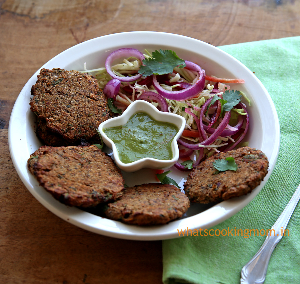 kale Chane Kebab recipe - high protein snack, appetizer, healthy snack for kids, vegetarian party snacks