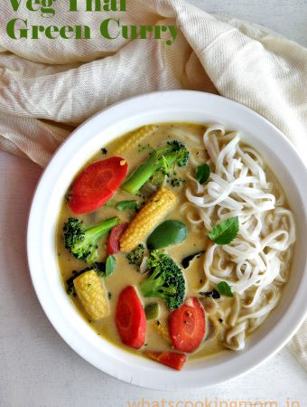 Vegetarian Thai Green Curry - yummy spicy curry perfect for lunch or dinner. you can pair it up with steamed rice or rice noodles