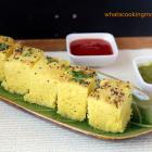 moong dal dhokla | healthy vegetarian snack