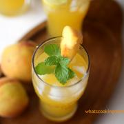 Peach Lemonade | summer drink